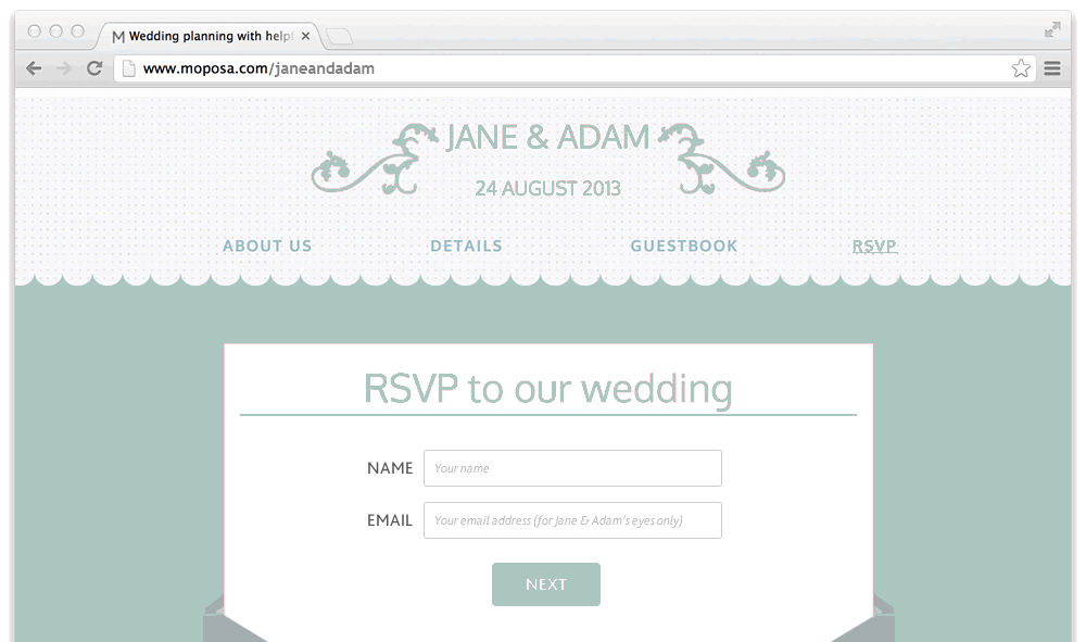 Moposa Wedding Websites