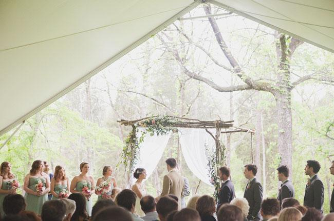 Outdoor Wedding, Beautiful arch with wild flowers
