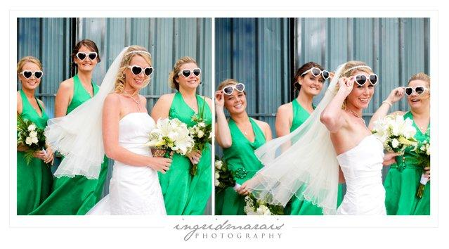Wedding sunnies, Retro heart-sharped glasses are cute and cool. Match with your bridesmaids for an i