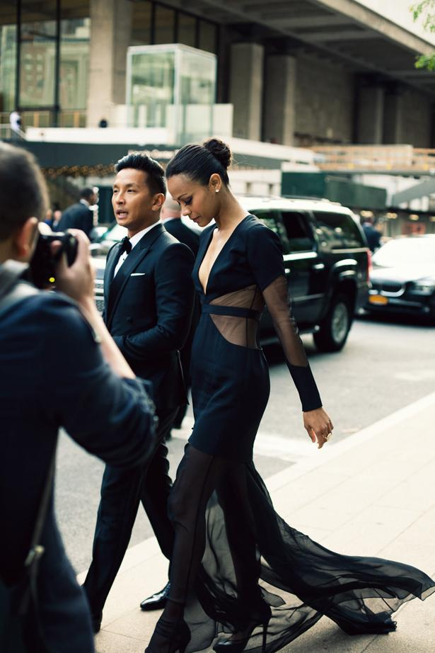 Dresses with Drama, We can see this in white! A jaw-dropping look from Zoe Saldana, accompanied by d