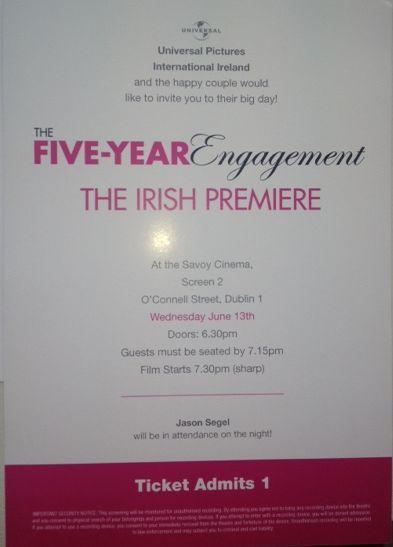 Premiere Giveaway, Our tickets have arrived! Thank you Universal Pictures Ireland.