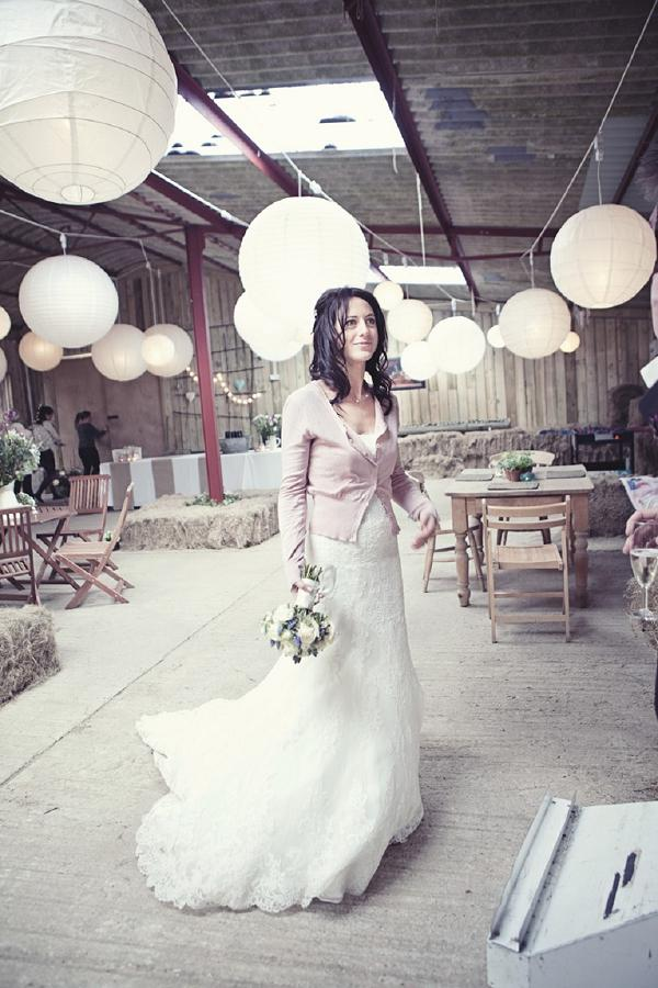 Looks we Love, This cardie with a wedding dress looks so cute! For the laid-back bride on a Summer e
