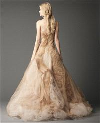 Bridal Dresses. dress, gold, copper, full-skirt