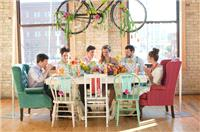 Decor & Event Styling. Bicycle hanging centrepiece