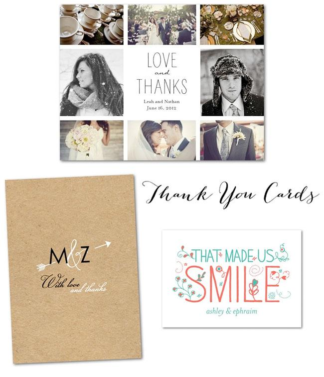 Stationery, Thank you cards