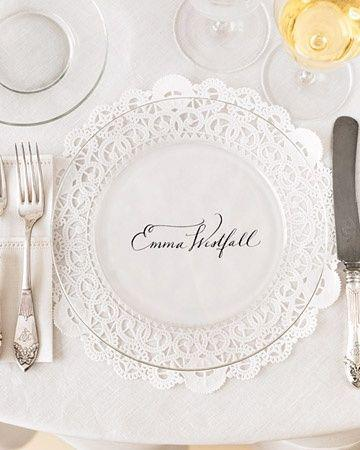 DIY Details, Doilie place settings