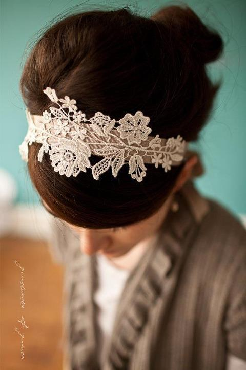 DIY Details, Bridal Hotspot show you how to make your own lace headband.