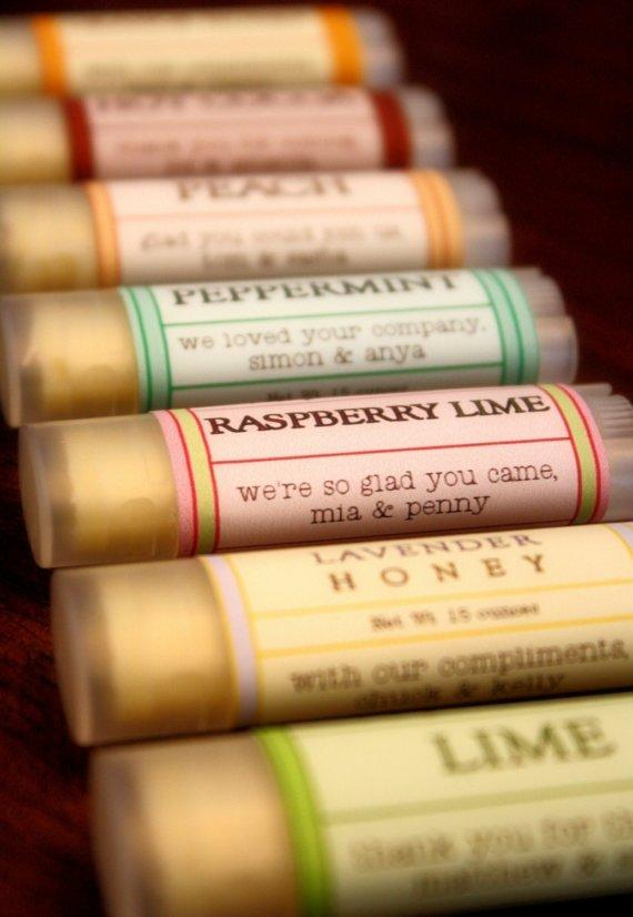 With Love, favours, lip balm