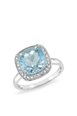 The Rock, ring, engagement, blue, diamond