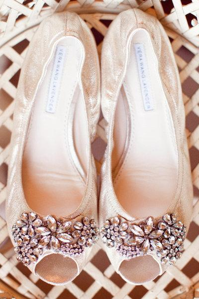 The Shopping List, Very Wang, flats, embellished, jewelled, peep toe