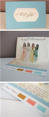 Stationery. Really cool DIY _Will you be my Bridesmaid_ tutorial. This one's quite tricky though, ma