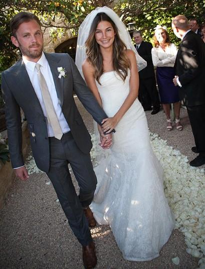 Looks we Love, Lily Aldridge in Vera Wang.
