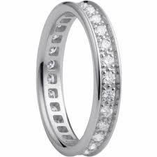 White Gold Wedding Bands, For Her
