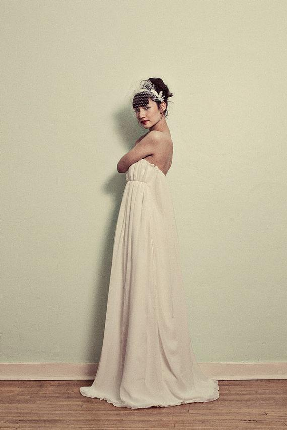 Dresses with Drama, wedding dress, strapless, chiffon