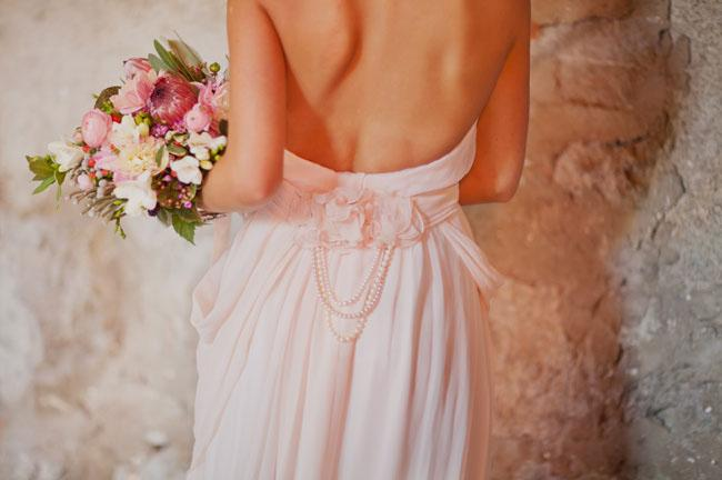 The Dress, wedding dress, backless, beading