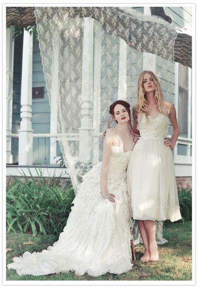 The Girls, wedding dress, white, texture