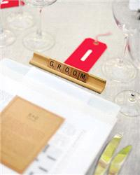 Decor & Event Styling. table settings, place settings, scrabble