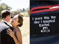 Stationery. A lovely message to stitch into your husband's wedding jacket: http://bit.ly/RF3oKt