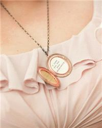 Stationery. Lockets containing personal messages for your bridesmaids! From Martha Stewart: http://b