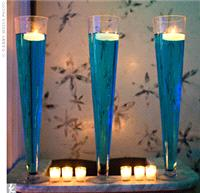 Wedding Venues. blue glasses