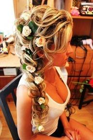 Hair and Make-up, Flowers in the hair.