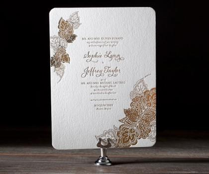 Bella Figura Letterpress, Beaming with worldly sophistication and artistic grace, Divya Formal is an