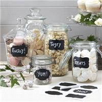 Accessories & Favours. A pack of 12 reusable chalk effect sticker labels, great for using on candy b