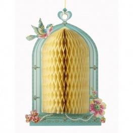 Wedding Accessories, Elegant Honeycomb Birdcage decorations will add height texture and beauty to an