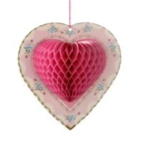 Accessories & Favours. Add romance and elegance to any room with gorgeous Pink Honeycomb Hearts.