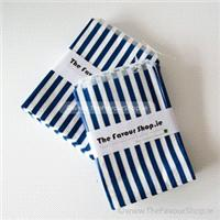 Accessories & Favours. Pack of approx 100 black and white candy striped paper bags measuring 5_ x 7_
