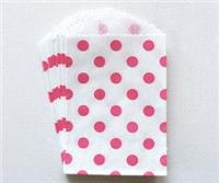 Accessories & Favours. Imported from the US Polka Dot Middy Bitty Bags are sized at 5_ x 7.5_. Bags