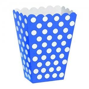 Wedding Accessories, These royal blue with white polka dot treat boxes measure approx 5 x 3.7 x 2.2