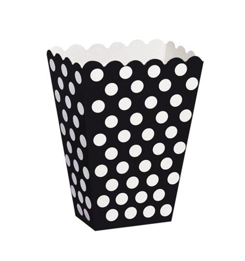 Wedding Accessories, These black with white polka dot treat boxes measure approx 5 x 3.7 x 2.2 inche