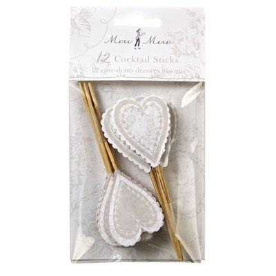Wedding Accessories, These heart shaped cupcake toppers come decorated with a watermark floral patte