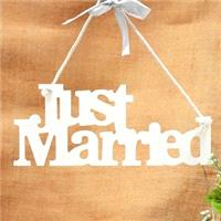 Accessories & Favours. The hanging words are lovely decorative finishing touch on your wedding day a