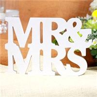Accessories & Favours. White free standing mr & mrs wooden SignThe perfect Bride and groom centr