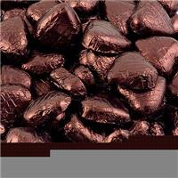 Accessories & Favours. 5g Foil wrapped Chocolate hearts. Approx. Quantity of box 94.Ingredients:
