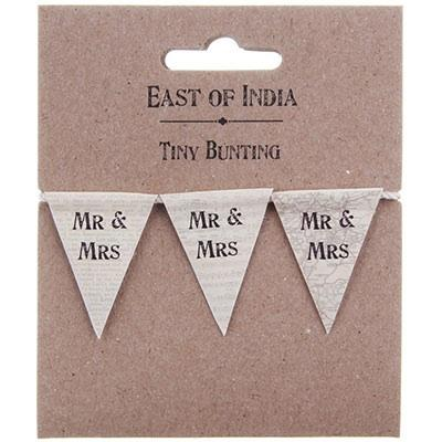 Wedding Accessories, Individual Flag Lenght: 3.5cmOverall Bunting Lenght: 1 MeterColour: Ivo