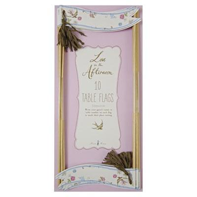 Wedding Accessories, http://www.thefavourshop.ie/shop/Love-in-the-Afternoon-Table-Flags-10pk-45_0820