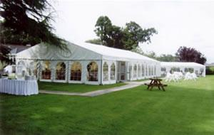Marquee Weddings, White Marquee With Windows.