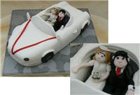 Cakes. Sports Car Novelty Wedding Cake (eight different cake flavours available). All cakes are hand