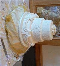 Cakes. Three Tier Varied Cascade Wedding Cake (eight different cake flavours available). All cakes a