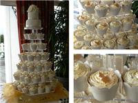 Cakes. Cupcake Wedding Cake. All cakes are handcrafted by an award winning cake designer.