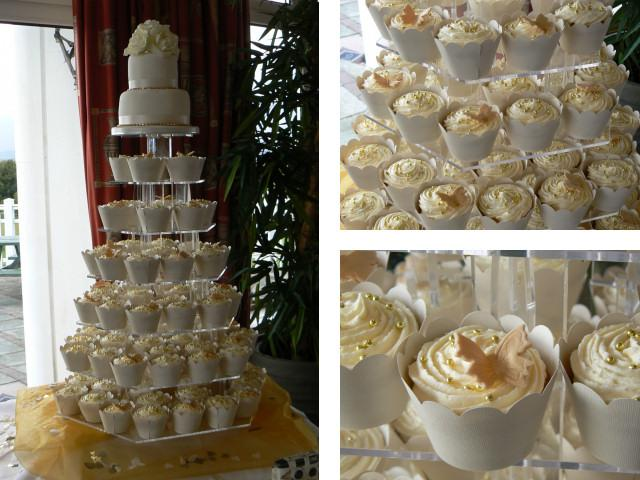 Cakes, Cupcake Wedding Cake. All cakes are handcrafted by an award winning cake designer.