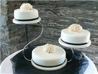 Cakes. Wedding Cake with Piped Detail (eight different cake flavours available). All cakes are handc