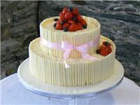 Cakes. White Chocolate Wedding Cake with Fresh Fruit (eight different cake flavours available). All