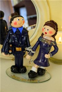 Accessories & Favours. The Garda and the River Dancer Couple. Handmade and unique to each client.
