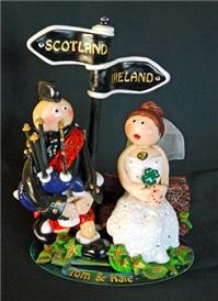 Accessories & Favours. Scottish Bag Piper and Irish Bride. Handmade and unique to each client.