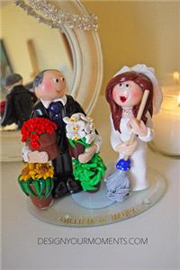 Accessories & Favours. Gardening Groom and Mopping Bride