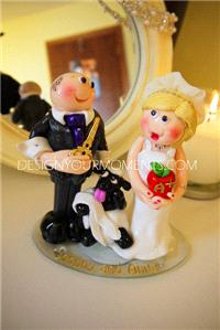 Accessories & Favours. Sheep-Shearing Couple